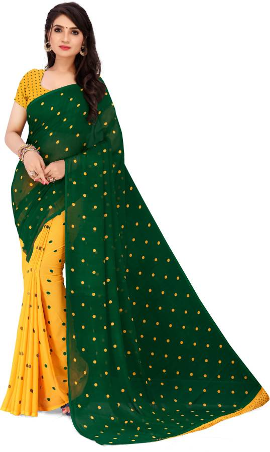Printed Daily Wear Georgette Saree Price in India