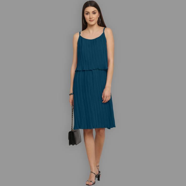Women Two Piece Dress Light Blue Dress Price in India