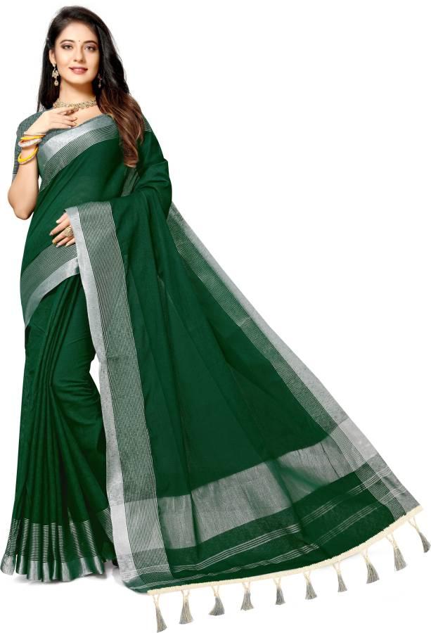 Woven Chanderi Pure Cotton Saree Price in India