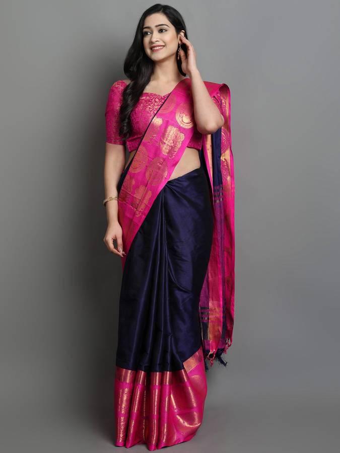 Woven Dharmavaram Jacquard Saree Price in India