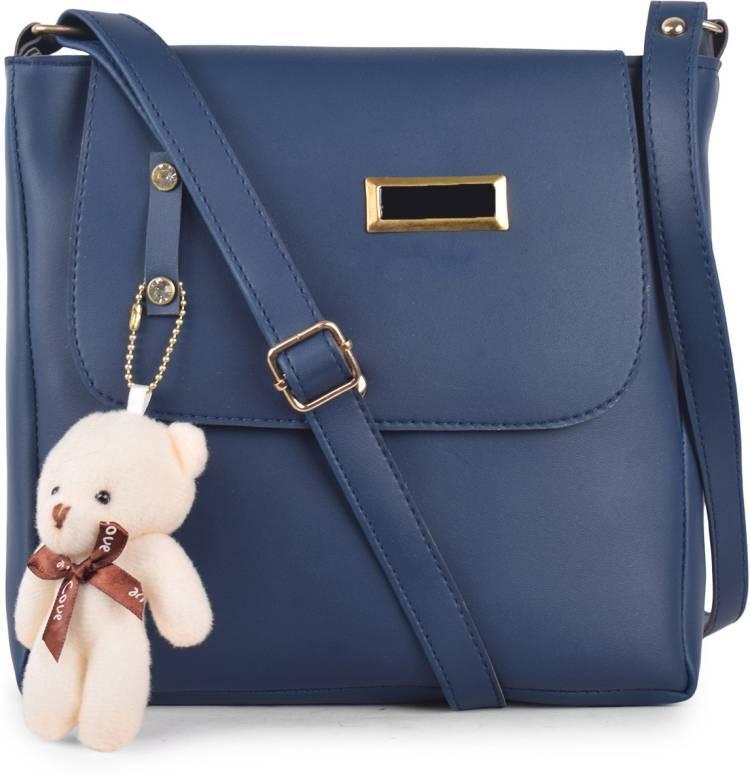 Blue Women Sling Bag - Regular Size Price in India