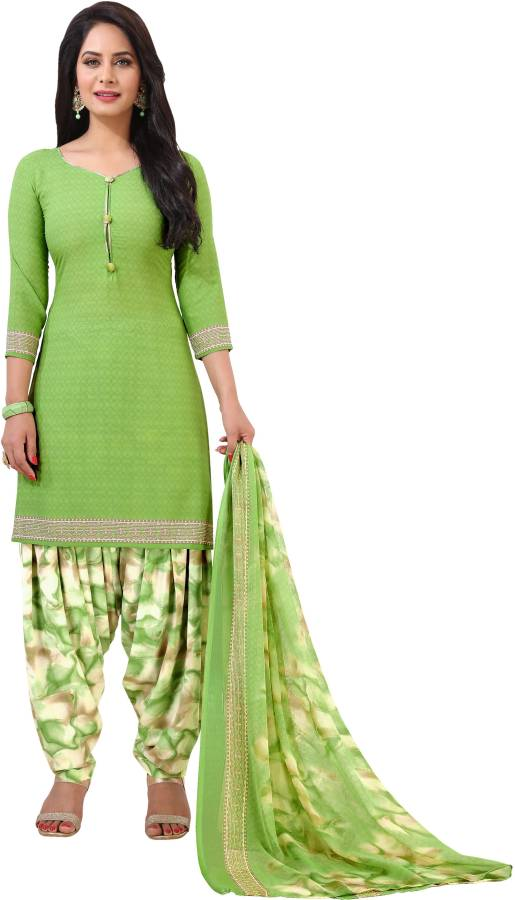 Crepe Printed Salwar Suit Material Price in India