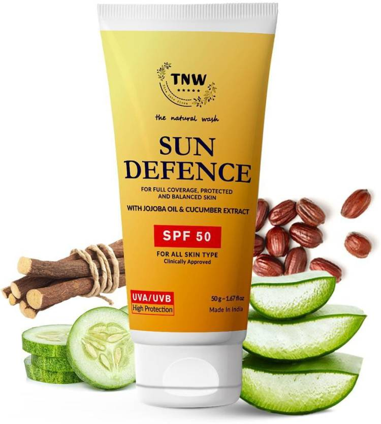TNW - The Natural Wash Sun Defence for full Coverage ,Protected and Balanced Skin - SPF 50 Price in India