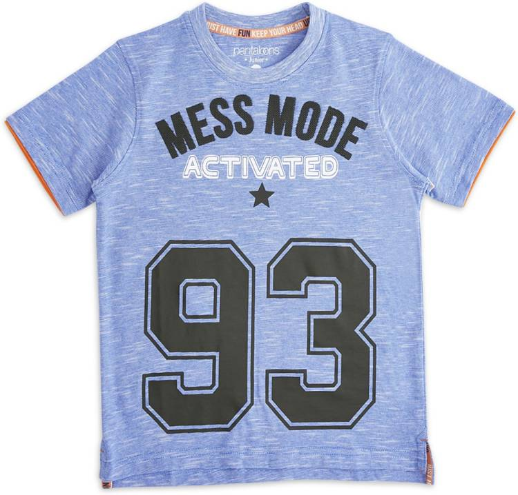 Boys Graphic Print Pure Cotton T Shirt Price in India