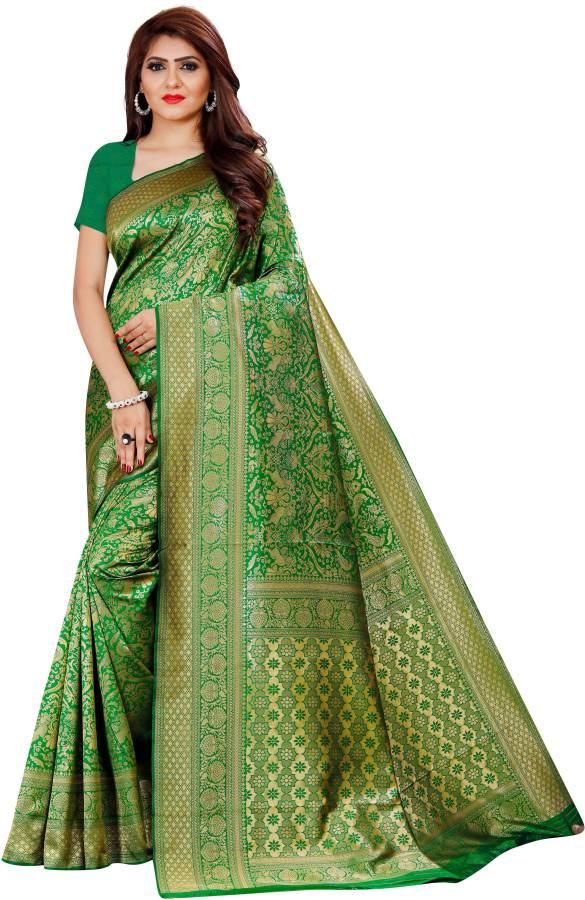 Self Design, Woven Banarasi Art Silk, Silk Blend Saree Price in India