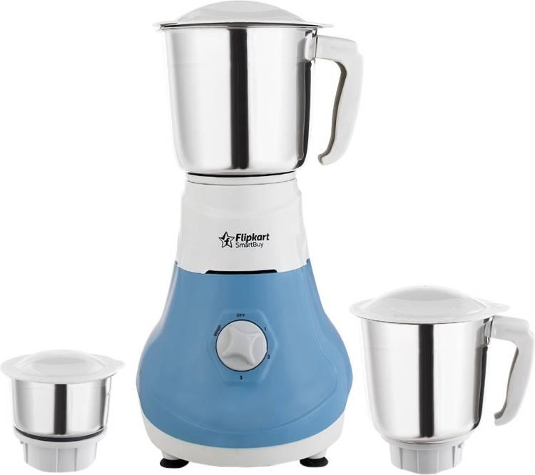 Flipkart SmartBuy PowerChef Regalia 550 W Juicer Mixer Grinder (3 Jars, Blue, Grey)