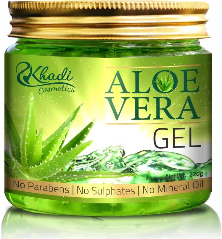 Khadi Cosmetics 100% Pure Aloe Vera Gel for Beautiful Skin & Hair Price in India