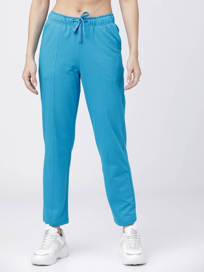 Solid Women Dark Blue Track Pants