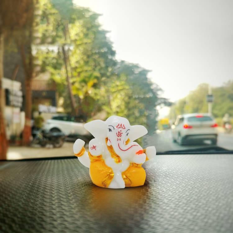 Rare Planet Car Dashboard Ganesha , Handpainted Lord Ganesha Idols for home decor ,God idols for car dashboard,Ganesha Idol for car dashboard, gifts And home,Ganesh idol in Spiritual & Festive Décor,table decoration items,home decor showpieces,Decorativ