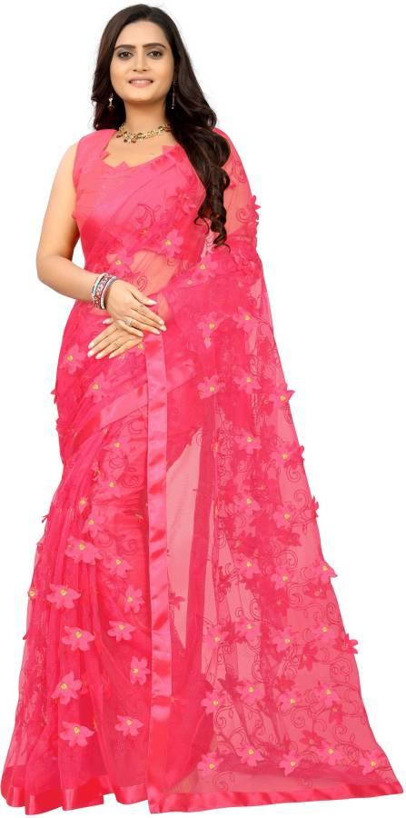 Applique Bollywood Net Saree Price in India