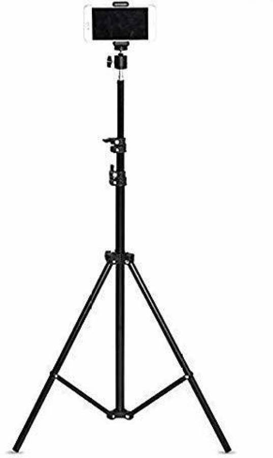 CASVO 7 Feet Big Tripod Stand for Mobile and Camera Adjustable Aluminium Alloy Big Tripod Stand Holder,Photo/Video Shoot,Instagram Reels/YouTube Videos with Mobile Clip Holder Bracket Tripod