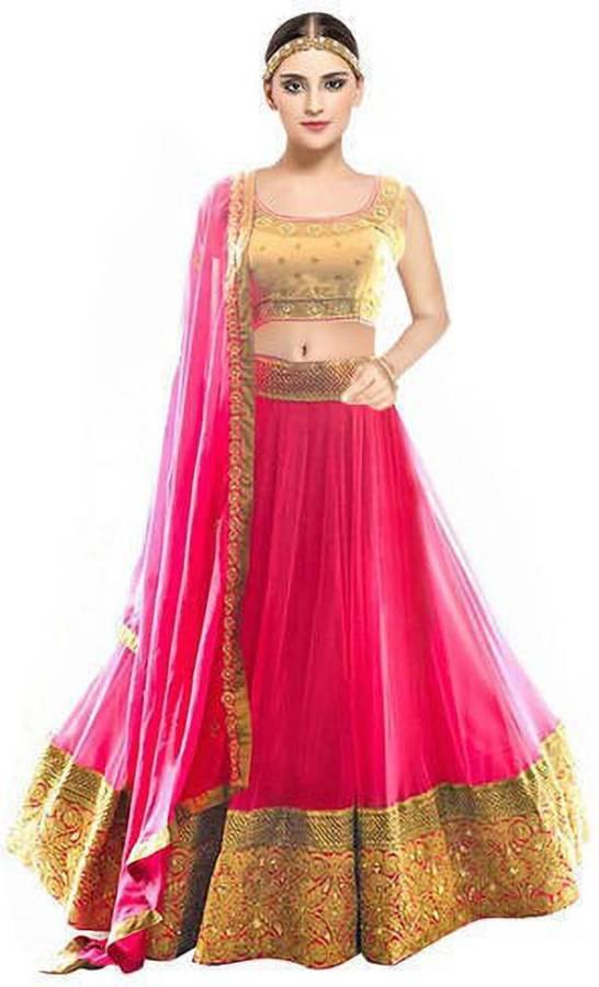 Self Design Semi Stitched Lehenga Choli Price in India