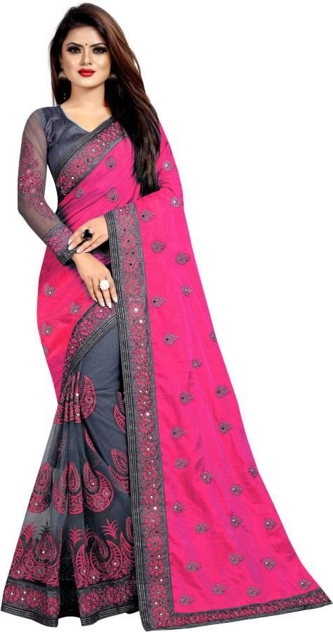 Embellished Fashion Net Saree Price in India