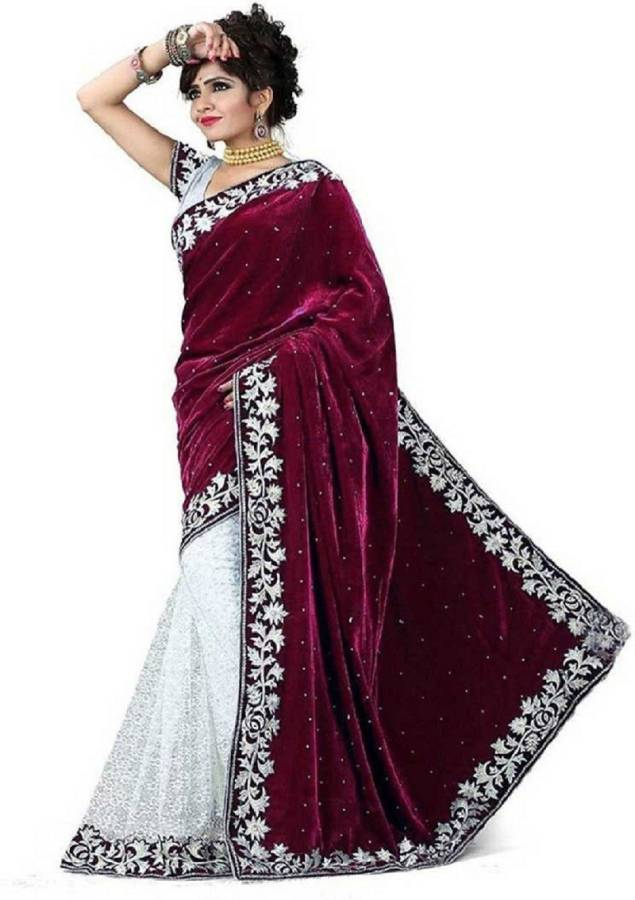 Self Design Bollywood Net, Velvet Saree Price in India
