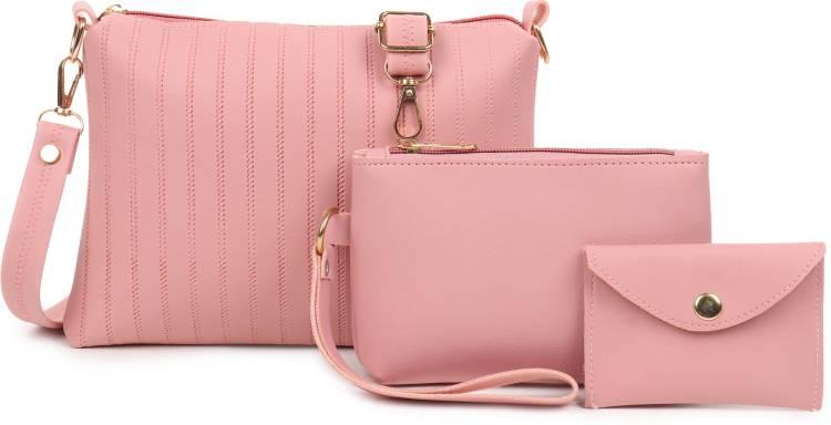 Pink Women Sling Bag - Regular Size Price in India