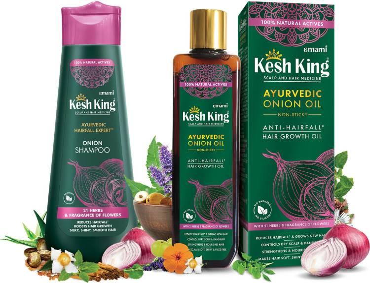 Kesh King Onion Oil 200ml + Onion Shampoo 300ml Price in India