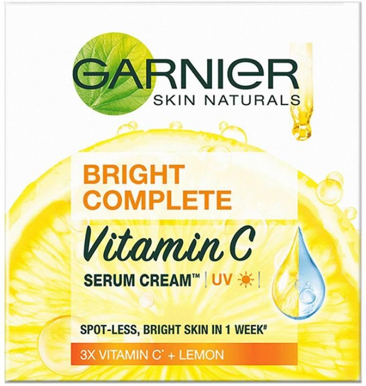 GARNIER Bright Complete VITAMIN C Serum Cream UV, 45g Price in India