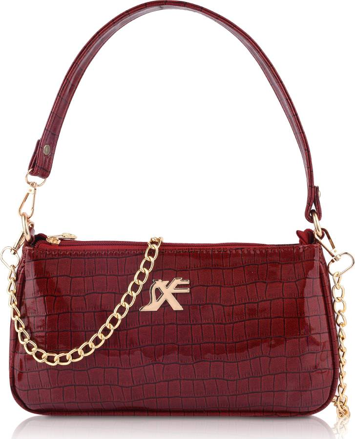 Maroon Women Sling Bag - Medium Price in India