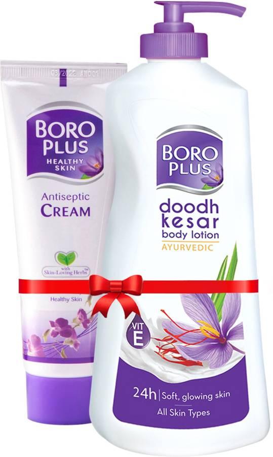 BOROPLUS Doodh Kesar Body Lotion 400 ml + Antiseptic Cream 120ml Price in India