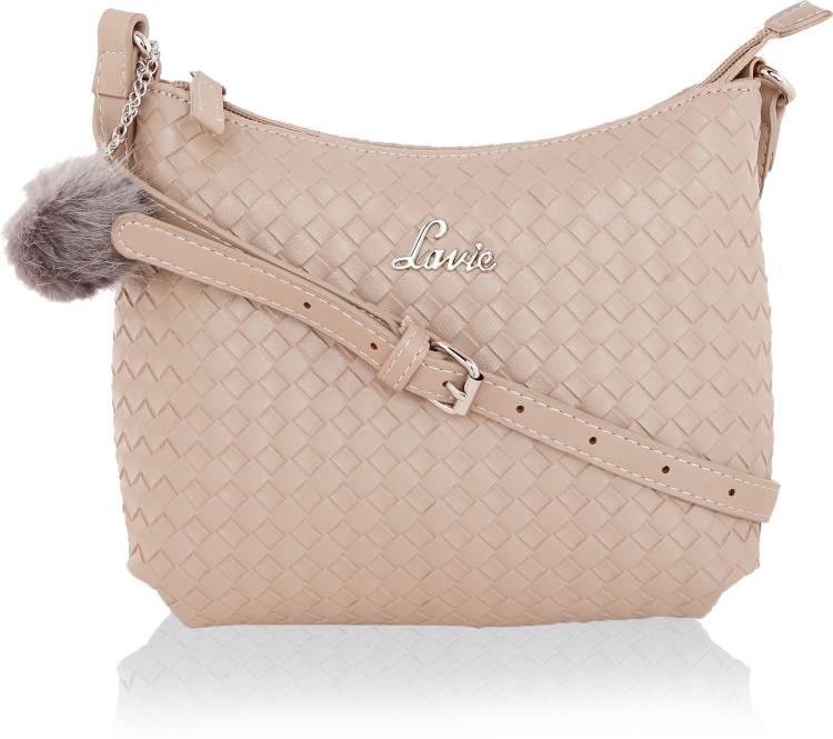 Beige Women Sling Bag - Mini Price in India