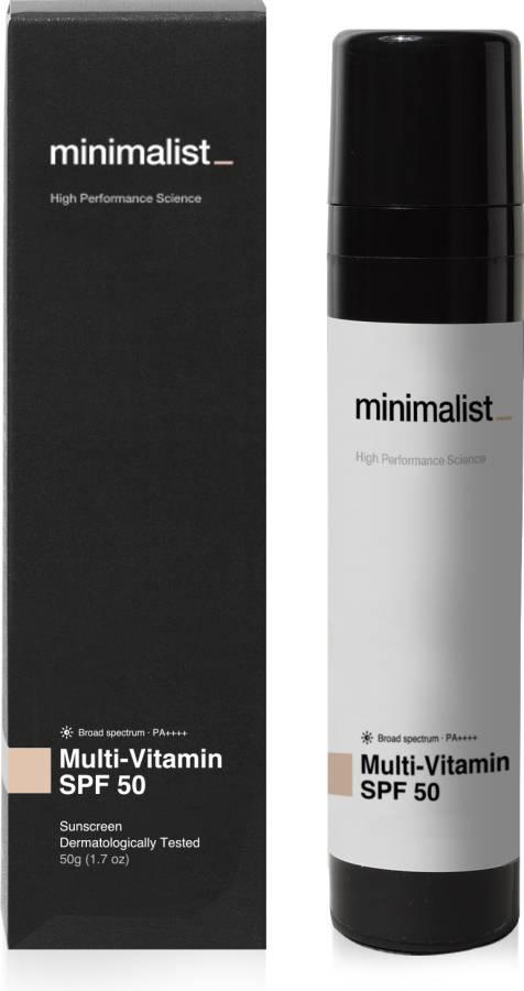 Minimalist Multi Vitamin Face Sunscreen for Complete Sun Protection - SPF 50 PA++++ Price in India