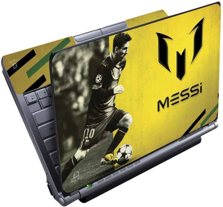 FineArts Messi Yellow Full Panel Vinyl Laptop Decal 15.6
