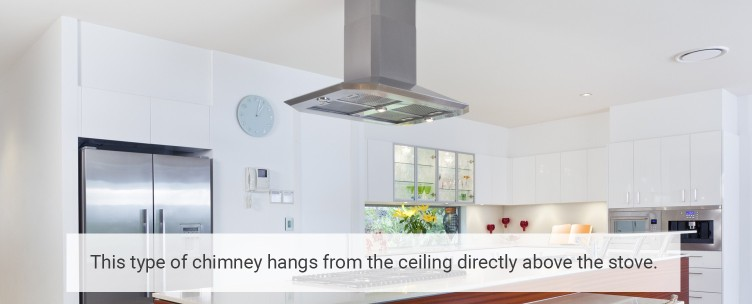 Ceiling Mount Kitchen Chimney