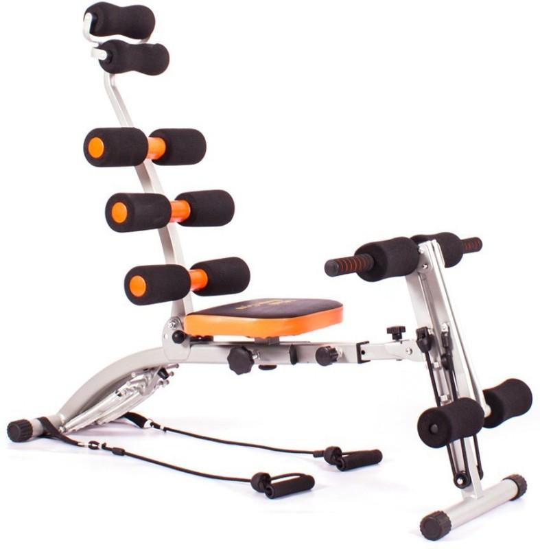 Evana Six Packs Ab Builder Full Body Abdominal Back Leg Arms Exercise Machine Ab Exerciser(Black, Orange)