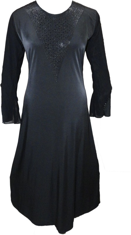 Justkartit JK4360 Lycra Burqa With Hijab(Black)