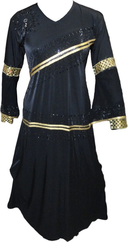 Justkartit JK4369 Lycra Burqa With Hijab(Black)