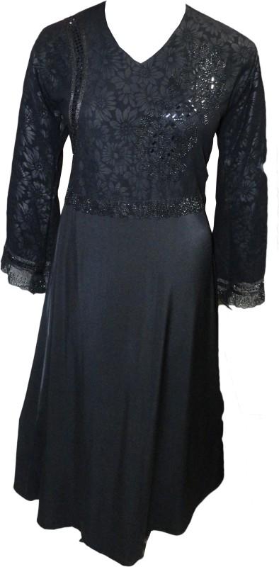 Justkartit JK4366 Lycra Burqa With Hijab(Black)