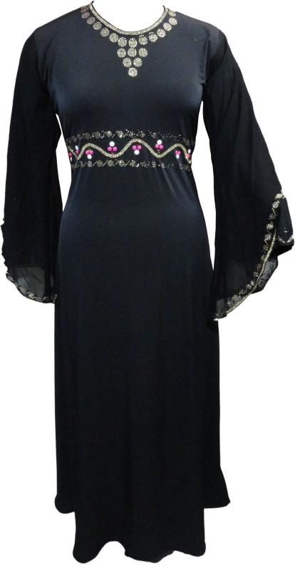 Justkartit JK4365 Lycra Burqa With Hijab(Black)