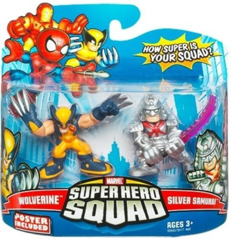 Marvel Superhero Squad Series 15 Mini 3 Inch 2Pack Wolverine(Multicolor)