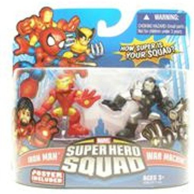 Marvel Superhero Squad Series 16 Iron Man & War Machine 2Pack(Multicolor)