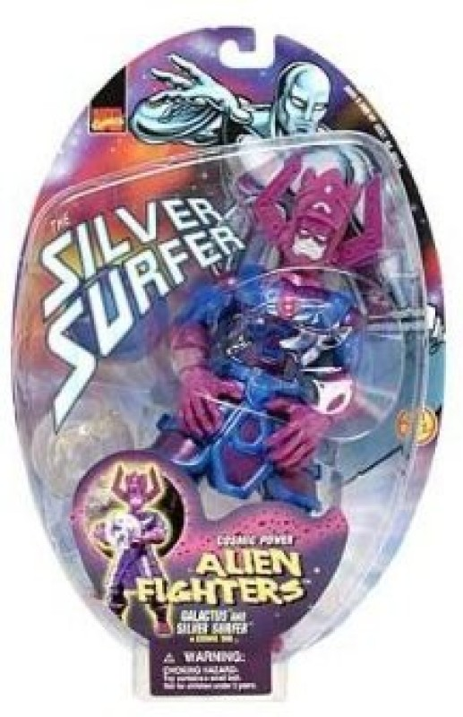 Marvel Alien Fighters Galactus And Silver Surfer In Cosmic Orb(Multicolor)