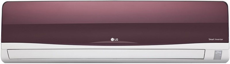 LG 1 Ton Inverter (3 Star) BEE Rating 2017 Split AC - Red(JS-Q12WTXD, Aluminium Condenser)