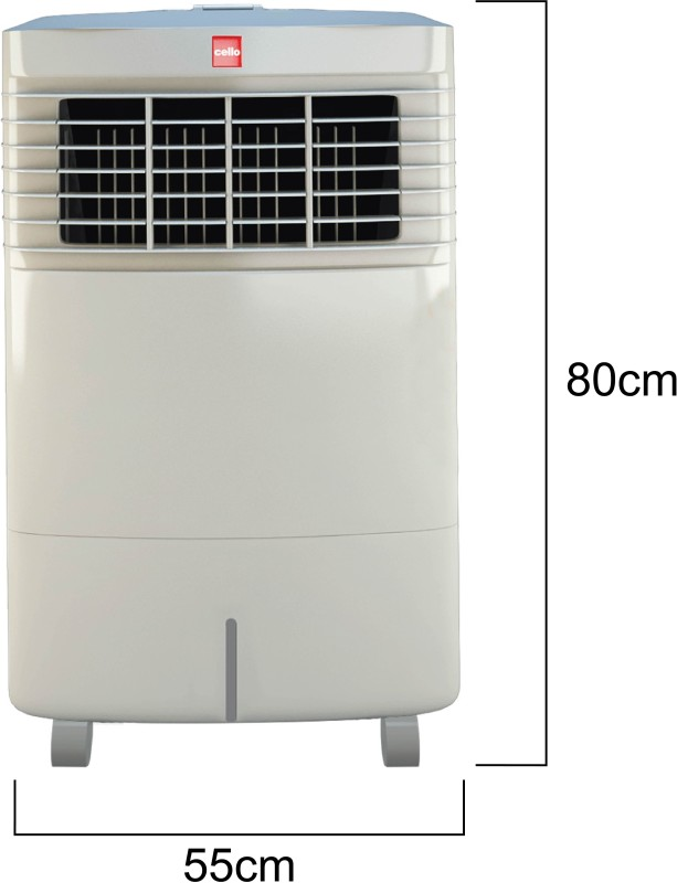 Cello Trendy Plus 30 Room Air Cooler(White, 30 Litres)