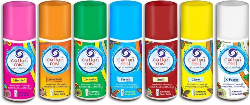 Cotton Mist Lavander-Farash-Oudh-Citrus-X-Factor-Mischief-Lemonspark Aroma Oil(2583 g)