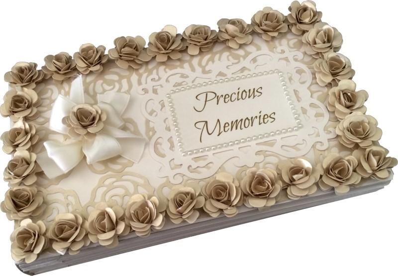 Crack of Dawn Crafts Precious Memories Handmade Photo Album-Cream & White Album(Photo Size Supported: 4 x 6 inches)
