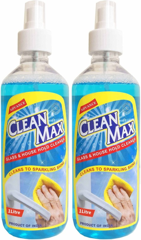 Cleanmax Glass & Household Cleaner 1L - Pack of 2 - All Purpose Cleaner(1 L)