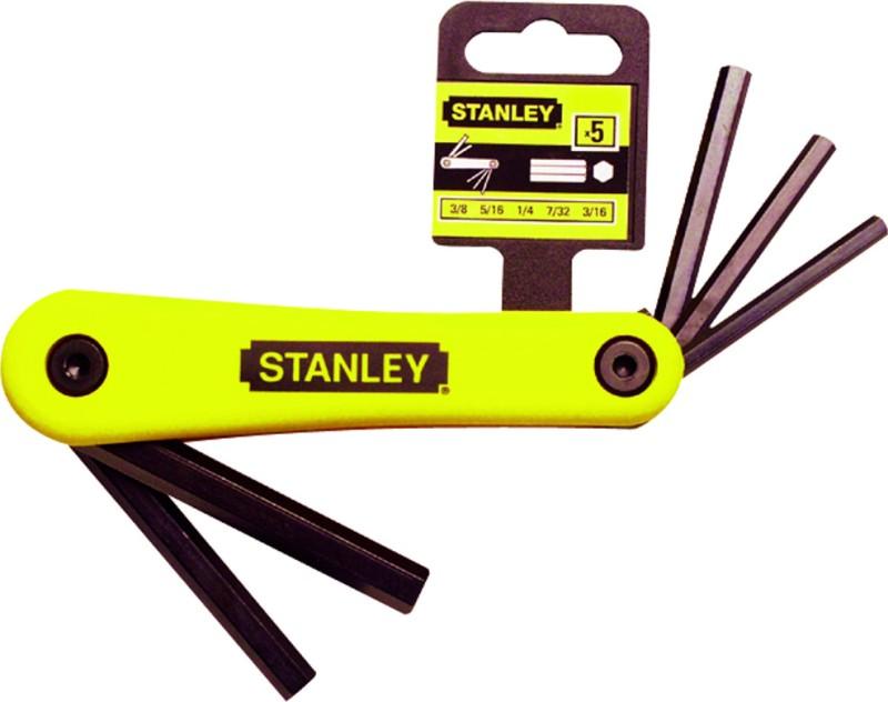 Stanley 69-260-22 Folding Allen Key Set(Pack of 5)
