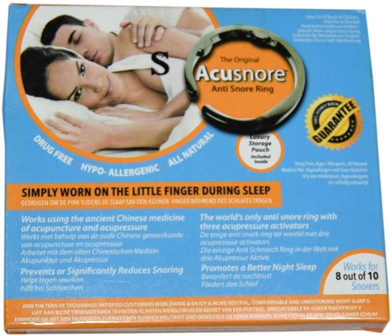 Acusnore Ring- With Three Acupressure Activators (Small) Anti-snoring Device(Nose Clip)