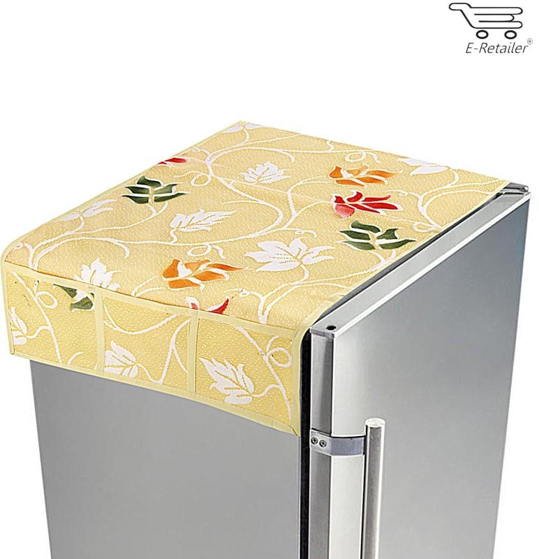 E-Retailer Refrigerator Cover(Beige)