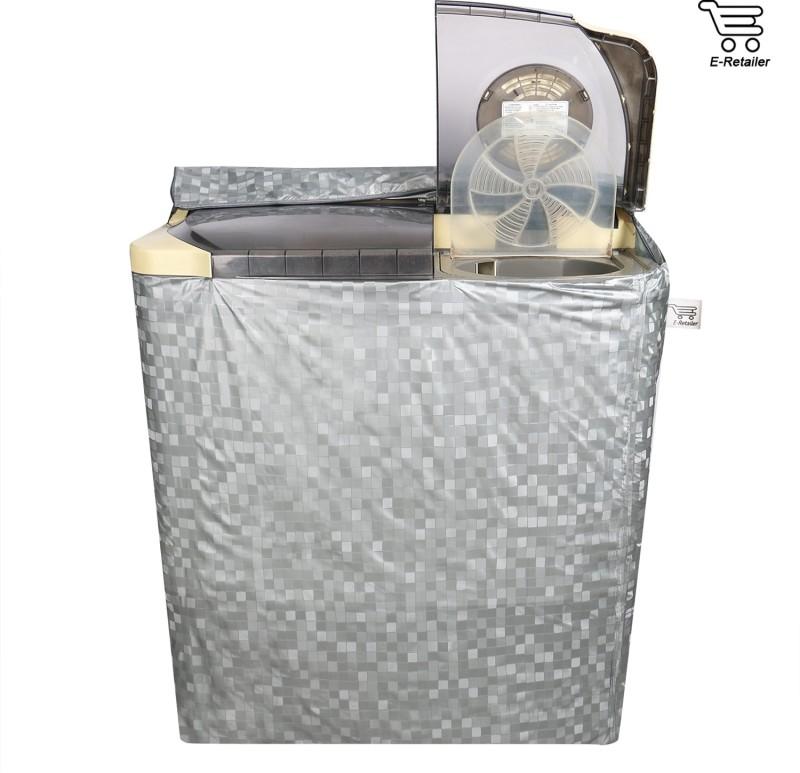 E-Retailer Top Loading Washing Machine  Cover(Silver)
