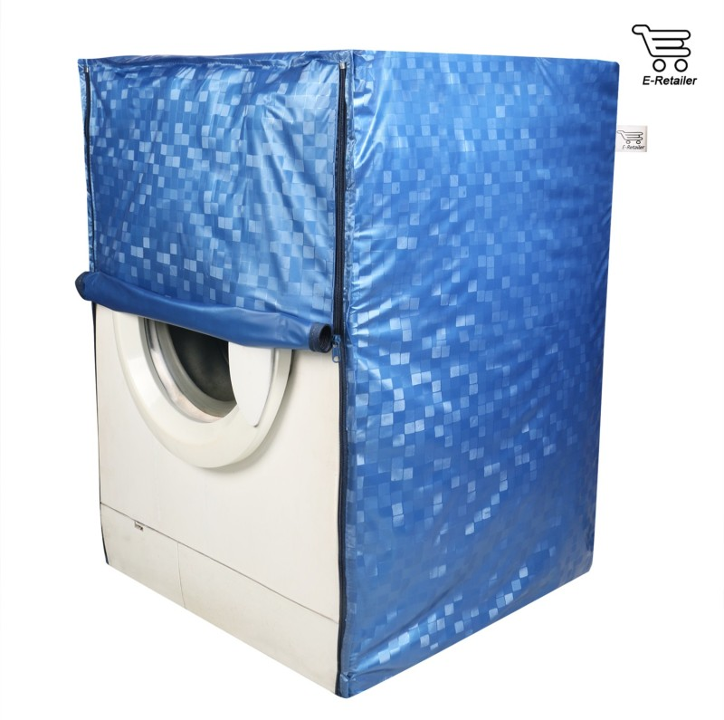 E-Retailer Washing Machine Cover(Blue)