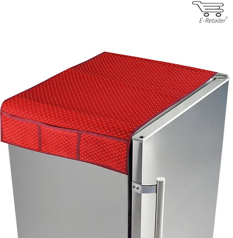 E-Retailer Refrigerator Cover(Red)
