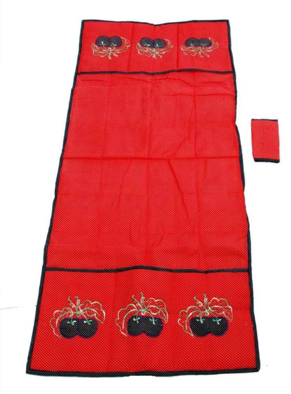 Kuber Industries Refrigerator Cover(Red)