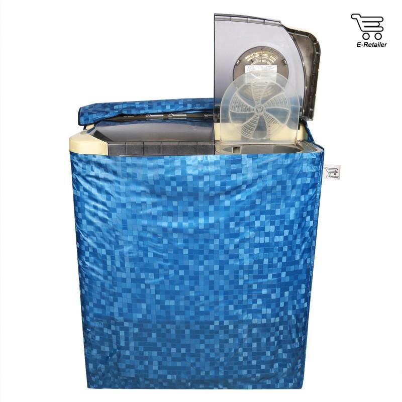 E-Retailer Top Loading Washing Machine  Cover(Blue)