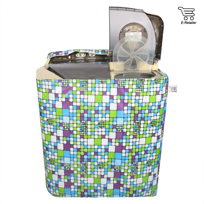E-Retailer Top Loading Washing Machine  Cover(Green)