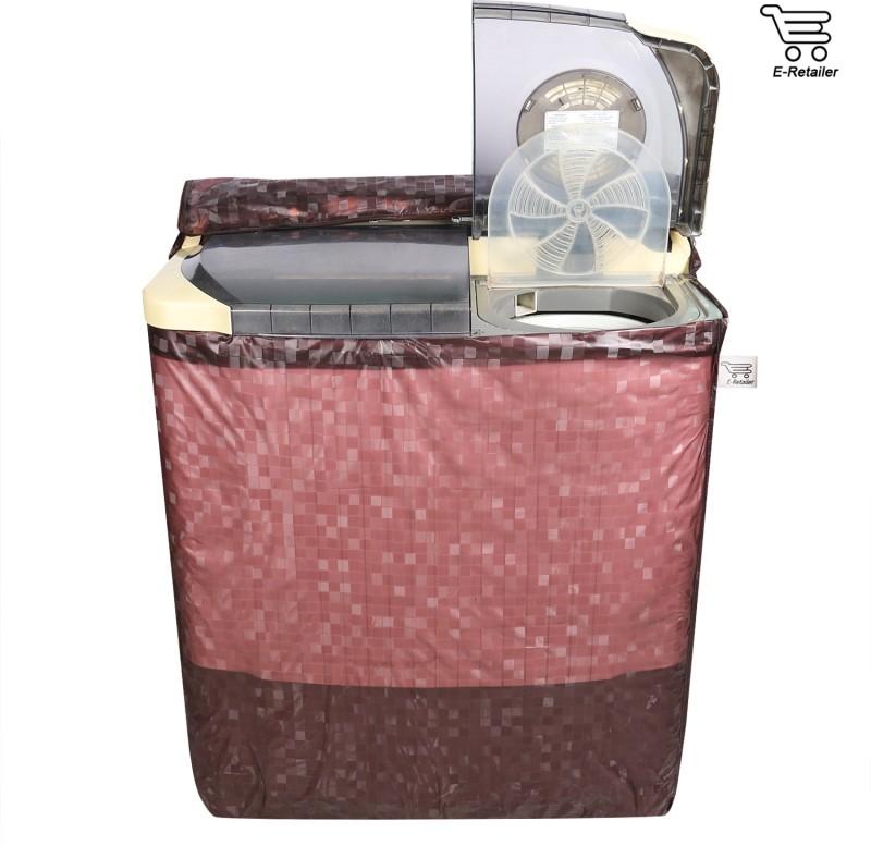 E-Retailer Top Loading Washing Machine  Cover(Brown)